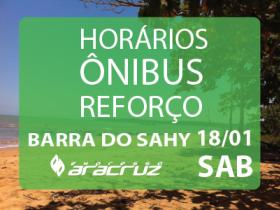 Horários de ônibus para Show na Barra do Sahy - 18.01