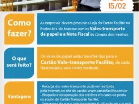 IMPORTANTE: Troque os vales de papel pelo Cartão Facilite Vale-transporte